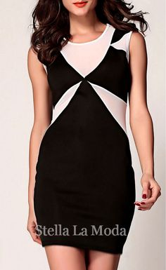 $24.99 Classic Geometrical Bodycon Dress - Stella La Moda