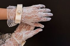 ISABEL Lace Wedding Gloves Bridal Gloves by Ivoryandlacebridal