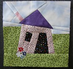 Wonky House Quilt Block inspiration