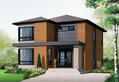 Contemporary Modern Elevation of Plan 76317
