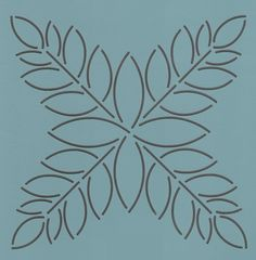Tulip Leaf - The Stencil Company Quilting Stitch Patterns, Hand Quilting Patterns, Quilting Stencils, Quilting Templates, Quilt Stitching, Longarm Quilting, Free Motion Quilting, Craft Patterns, Machine Quilting