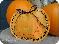 Doily Pumpkin Treat Bag