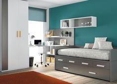 Las #habitaciones juveniles de @Muebles Ros.  Dormitorios y escritorios juveniles que aceptan una gran variedad de acabados y colorido.