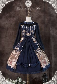 The Vampire Count's Dancing Party Long Sleeves Lolita OP Dress