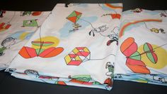 1966 Snoopy & Peanuts Gang Twin Sheet Set Fly by AstridsPastTimes