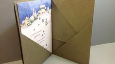 Origami Folder for Christmas Cards - Make Your Own!