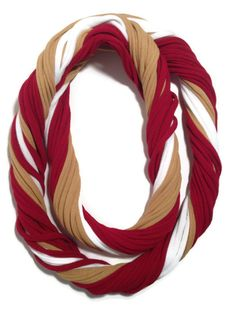 San Francisco 49ers Loopy Infinity Scarf  by StitchesToBritches, $20.00