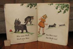 1940 Our Story Book Mac and Muff 16X20 BIG BOOK for teachers