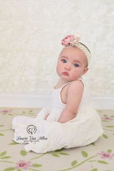 Cream Rose Textured Fabric Backdrop from Backdrop Express - Photo by Laurie Van Allen Photography