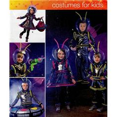 Out of print Simplicity 2796 Alien Kids Costume PATTERN Childrens Space