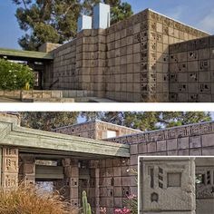 Freeman House,Built 1923 in the Hollywood Hills  Frank Lloyd Wright