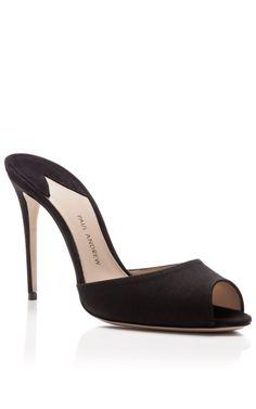 M'O Exclusive: Artistata Silk Mule Stiletto Heels by Paul Andrew - Moda Operandi