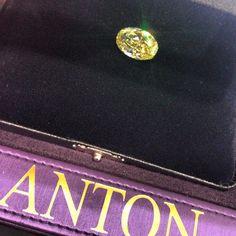 Natural Fancy Yellow Diamond #antonjewellery