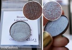 """Eyeshadow """"Braun"""" by Moonshine. Color was described as """"chocolate with oil slick on top"""" - pretty accurate!"""