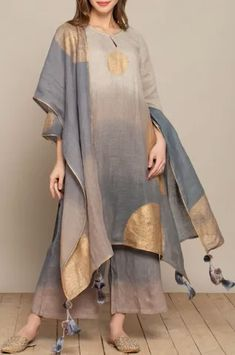 Buy Asymmetric Dyed Tunic by Kaveri at Aza Fashions Pakistani Fashion Casual, Indian Fashion, Stylish Dresses For Girls, Casual Dresses, Indian Dresses, Indian Outfits, Lengha Blouse Designs, Kurta Designs Women, Kurti Designs Party Wear