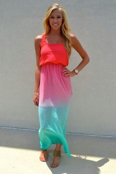 Love this dress!  The colors are so pretty!