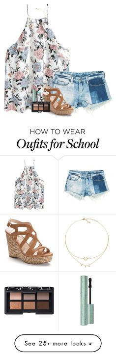 """""""rlly don't want to go back to school tmr:(("""" by lillynelsonn on Polyvore featuring Sans Souci, Jennifer Lopez, Chapstick and NARS Cosmetics"""