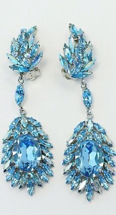 {Daily Jewel} Vintage Sherman Rhinestone Earrings - Haute Tramp