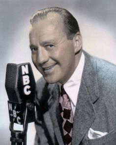"""Jack Benny, on radio from 1932 - 1955. He and his cast entertained troops at military bases in America during the war. """"News on the Home Front,"""" a novel of the 1940s, by Christopher Geoffrey McPherson."""