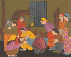 Artwork page for 'Prison Paintings Gulsun Karamustafa, 1972 Social Exclusion, Psychological Effects, Military Coup, North Africa, Oppression, Naive, Bold Colors, Prison, Paintings