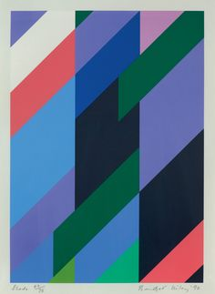 "garadinervi: ""  Bridget Riley, Shade, Screenprint, 1992 """