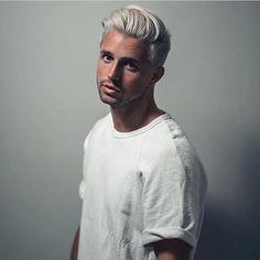 K den . . . #hair #ice #white #menshair #whitehair #icewhite #guy #man #gay…