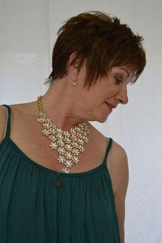 85fa6a75f1e34 Flower Diamonte Statement Necklace – Mandy s Heaven - Women s Fashion  Boutique UK - Fashion Over 40