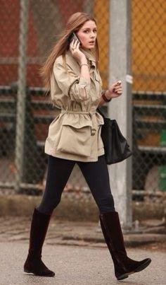 Olivia Palermo wearing Hermes Birkin Bag in Black. Olivia Palermo Outfit, Estilo Olivia Palermo, Olivia Palermo Style, Utility Jacket Outfit, Cool Style, My Style, Fall Looks, Giovanna Battaglia, Daily Fashion