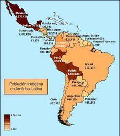 Mapa de población indígena  Atlas sociolingüístico de pueblos indígenas en América Latina