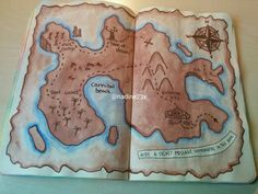 I think I should do this for crumble this page! Maybe a map of neverland!!!!