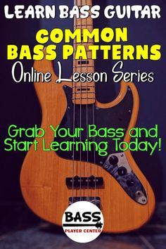 Bass Guitar Scales, Learn Bass Guitar, Bass Guitar Lessons, Guitar Lessons For Beginners, Guitar Songs, Bass Guitars, Elementary Music Lessons, Vocal Lessons, Art Lessons
