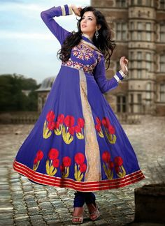 Classy Indian Anarkali Frocks Collection From 2014 By Sonal Chauhan | 7pm Dress