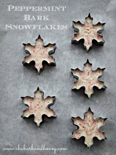 Peppermint Bark Snowflakes {www.rhubarbandhoney.com}