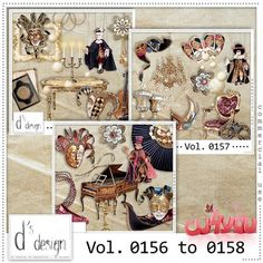 Vol. 0156 to 0158 - Venice Masquerade Mix - by D's Design
