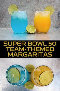 Super Bowl 50 Team-Themed Margaritas [Recipe]