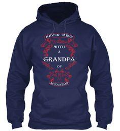 Grandpa Of Accountant Hoodie  Navy Sweatshirt Front
