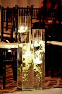 Ceremony aisle decor- floating candles with submerged orchids. Kauai Wedding, Hotel Wedding, Wedding Beach, Beach Party, Wedding Reception Decorations, Wedding Ideas, Wedding Stuff, Wedding Centrepieces, Aisle Decorations