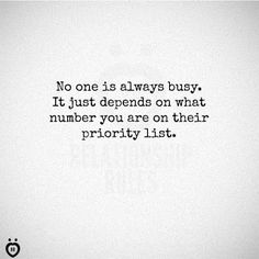 Expressions of Myself: No one is always busy...