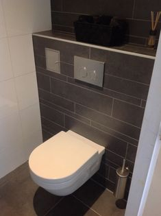 7 toilet ideas for your new toilet room - Small bathrooms. 7 toilet ideas f Small Toilet Room, Guest Toilet, New Toilet, Cloakroom Toilet Downstairs Loo, Downstairs Bathroom, Bad Inspiration, Bathroom Inspiration, Toilet Decoration, Bathroom Toilets