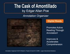 reflection of the cask of amontillado The cask of amontillado should be regarded as a slice of a horror story, which revolves around the theme of revenge and pride (levine 90) poe's story is a case .