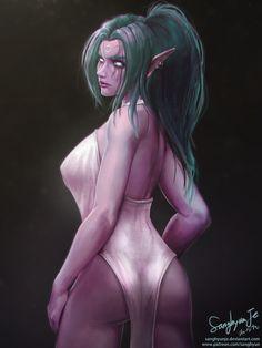 Tyrande - High Priestess of Elune by SanghyunJe.deviantart.com on @DeviantArt