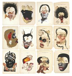 [ M ] Wangechi Mutu - Histology of the Different Classes of Uterine Tummors loved her work since Bklyn Museum exhibit.hope 2 c more. African American Artist, African Artists, Contemporary African Art, Contemporary Artists, Collages, Collage Art, Cultural Identity, Photocollage, Black Artists