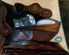 El aparador del ''Catalán'', Oil by Pablo Picasso (1881-1973, Spain)