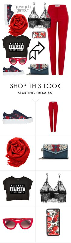 """""""parental advisory"""" by felicitysparks ❤ liked on Polyvore featuring Salvatore Ferragamo, Loewe, Gearonic, Alexander McQueen, Anine Bing, Thierry Lasry and Dolce&Gabbana"""