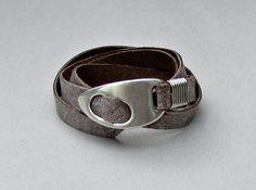 Men's Leather Bracelet, Wrap Bracelet Cuff, Unisex Bracelet, Adjustable to your wrist