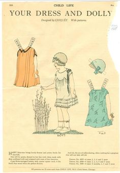 Child Life Magazine Paper Doll Your Dress Dolly's May 1928 Polly Chiquet Paper Toys, Paper Crafts, Newspaper Paper, Doll Museum, Paper Doll House, Art Folder, Vintage Paper Dolls, Child Life, Doll Patterns