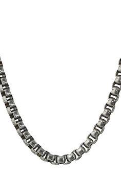 Steve Madden Stainless Steel 26 Box Chain Necklace (Silver) Necklace - Steve Madden, Stainless Steel 26 Box Chain Necklace, SMNS75492BS, Jewelry Necklace General, Necklace, Necklace, Jewelry, Gift, - Fashion Ideas To Inspire