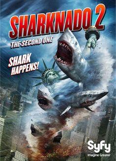 FILME: Sharknado 2: The Second One – 2014  SINOPSE: Uma aberração meteorológica desencadeia toda a sua fúria mortal na cidade de Nova Iorque, provocando um Sharknado sobre a população e os ícones da cidade, e somente Fin e April podem salvar a bela Big Apple.