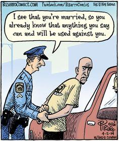 Police and law enforcement humor *snork* (Bizarro Comics) Funny Cartoons, Funny Comics, Funny Jokes, Grammar Jokes, Cartoon Humor, 9gag Funny, Funny Texts, Golf Humor, Funny Images