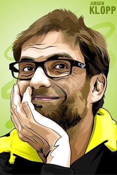 Soccer Art, Football Soccer, Juergen Klopp, Funny Caricatures, Liverpool Fc, Munich, Fifa, Book Art, Portraits